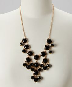 Take a look at this Black & Gold Bubble Necklace by 2 Crystal Chicks on #zulily today!