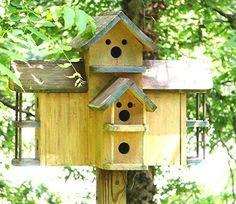 Sunny yellow bird house