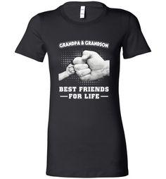cool GrandPa and Grandson Best Friends For Life Women Shirt