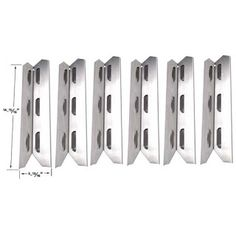 Bbq Parts Factory in USA: Permasteel Heat Shield/Plate | Replacement 6 Pack ...
