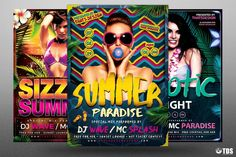 Beach Party Flyer Bundle V3 | The Hungry JPEG
