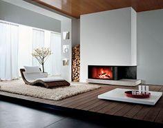 40 Stunning Contemporary Fireplace Design Ideas - Page 4 of 40 Home Fireplace, Modern Fireplace, Fireplace Design, Fireplace Ideas, Scandinavian Fireplace, Classic Fireplace, Traditional Fireplace, Rustic Fireplaces, Scandinavian Modern