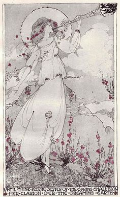 Jessie Marion King. Illustration to Poems of Shelley, 1907.
