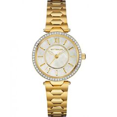 Wittnauer Women's Taylor Mini Gold-Tone Stainless Steel Bracelet Watch *** Special  product just for you. See it now!