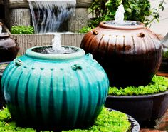 How to Build a DIY Garden Fountain - Greenwood Hardware http://greenwoodhardware.com/build-diy-garden-fountain/