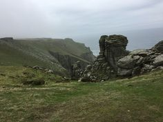 Lundy Island in late Spring - east side with interesting rock formations