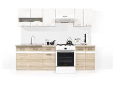 Junona Line 240 konyhabútor - Junona line konyha san remo szín Kitchen Units, New Kitchen, Kitchen Cabinets, Light Oak, My Dream Home, Double Vanity, Shabby Chic, The Unit, Interior Design