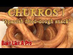 How To Make Churros ! How To Make Churros ! Fried Fritters Recipe, Homemade Churros Recipe, Churro Recipe, Fried Dough Recipes, Deep Fried Donuts, Deep Fryer Recipes, Mexican Snacks, Cake Recipes, Dessert Recipes