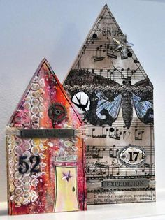 art wood houses - Google Search Paper Houses, Wood Houses, Art Houses, Cute Little Houses, Altered Art, Altered Books, Whimsical Art, House In The Woods, Wood Blocks