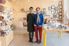 Angie Myung and Ted Vadakanin at Poketo store: Remodelista