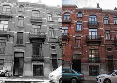 Dit herenhuis te Koekelberg was omgebouwd tot 3 verschillende appartementen boven elkaar. De bouwheer wenste de woning terug in originele staat te verbouwen met inbreng van meer licht en ruimtelijkheid. Daarom werd een deel van de vloer tussen -1 en gelijkvloers verwijderd aan de achterzijde. Als aanbouw werd er een glazen constructie voorzien. Deze ruimte op halve verdieping tussen -1 en gelijkvloers zal functioneren als keuken. Ze verbindt op die manier de hoger gelegen eetruimte en…