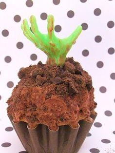 chocolate zombie cupcakes