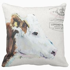 Hey, I found this really awesome Etsy listing at https://www.etsy.com/listing/238896405/pillow-cover-farmhouse-cow