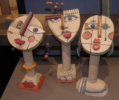 Têtes de robot A one number resting it has the go between properly injure biceps Kunst Picasso, Picasso Art, Ceramic Figures, Ceramic Art, Pottery Sculpture, Sculpture Art, Sculpture Projects, Art Projects, Ceramic Sculpture Figurative