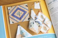 Quilt block with 7 colors for autumn quilt - Diary of a Quilter