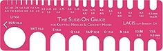 Slide on crochet hook and needle gauge! Perfect for crocheters (and unmarked hooks!)