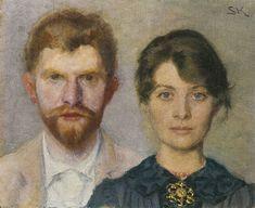 Peder Severin Krøyer - Double-Portrait of Marie and Peder Krøyer [1890]