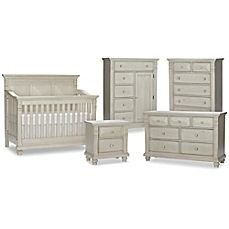 Image Of Kingsley Sedona Nursery Furniture Collection In Vintage Ivory