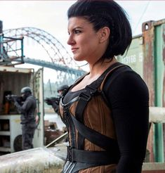 """Former #MMA fighter Gina Carano as Angel Dust in """"Deadpool"""". http://hubpages.com/sports/Female-MMA-Female-MMA-Fighters"""