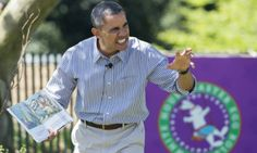 US President Barack Obama reads the book,