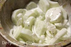 Deep South Dish: Sour Cream Cucumber and Onion Salad