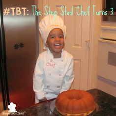 The Step Stool Chef started cooking at the age of 2.  For his 3rd birthday, check out the cake he made: http://www.stepstoolchef.com/tbt-the-chef-turns-3/ #stepstoolchef #kidsinthekitchen #kidscancook