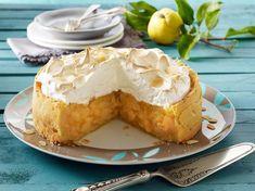 Quitten-Kuchen mit Mandelbaiser