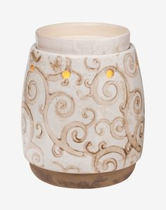 Barista Scentsy Full-size Warmer  A casual, mocha-colored design and clever nesting warmer dish perk up any room.  Your Price: $30.00  https://wicklesschrista.scentsy.us/Scentsy/Buy/ProductDetails/DSW-BARI