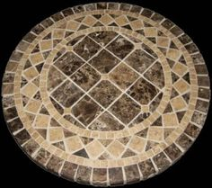 Best online store Torino Mosaic Stone Round Dining Table, 42 by PebbleArt Mosaic Diy, Mosaic Garden, Marble Mosaic, Stone Mosaic, Stone Tiles, Mosaic Glass, Mosaic Tiles, Tile Art, Stone Table Top