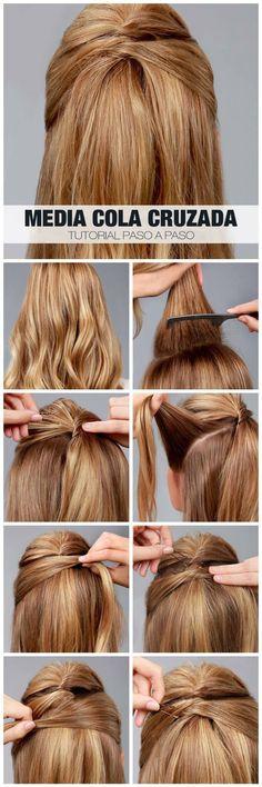 Peinado media cola paso a paso #mediacola