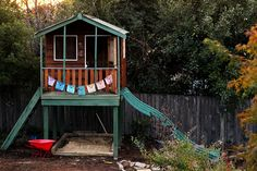 A new cubby house without the price tag ~ Happy Whimsical Hearts Outdoor Play Spaces, Cubbies, Garden Ideas, Whimsical, Hearts, Tags, House Styles, Creative, Happy