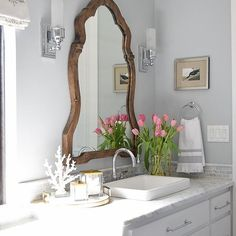 This bathroom by @zdesignathome rings all my bells and whistles. #springhometours