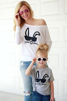 Mini and Me Easter Shirts Mommy and me matching shirts