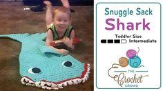 Crochet Mini Toddler Shark Snuggle Sack + Tutorial