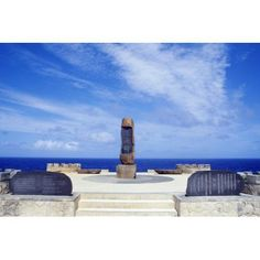 Micronesia Saipan Banzai Cliff World War Ii Memorial Erected By Kozuke Tomizawa Canvas Art - Greg Vaughn Design Pics (19 x 12)