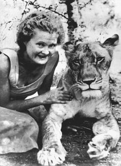 Naturalist/artist/writer Joy Adamson was born today in She became globally well know with the publication of her 1960 book Born Free about Elsa the lion. She met death by hand of murder in Kenya in 1980 Elsa, Lioness And Cubs, Female Lion, Pet Monkey, Beautiful Stories, Second World, Big Cats, Peace And Love, Lions