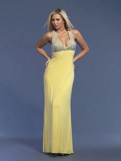 Sheath/Column Straps Chiffon Ankle-length Daffodil Rhinestone Prom Dresses