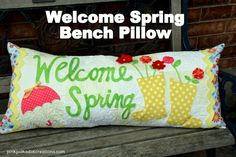 welcome spring bench