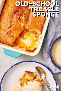 This best-of-British pudding is a school dinner classic. Syrupy sponge served warm with custard is one of lifes best comfort food desserts - and its so easy to make at home too! Try this for pudding after a Sunday roast dinner. Pudding Desserts, Easy Desserts, Dessert Recipes, Easy Pudding Recipes, Pavlova, Pampered Chef, School Dinner Recipes, British Desserts, British Food Recipes