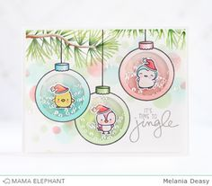 mama elephant | design blog: Twinkle Towns and Reindeer Games with Melania!