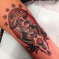 Cowboy #gastowntattoo #traditional #tattoo #calgary #cowboy