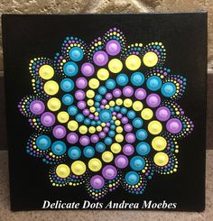 Mandala Dot Canvas Painting / Painting / Dot Art / Mandala /