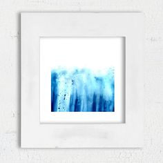 Digital download Abstract Blue watercolor art print by DYAStudio