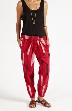 The Easy Dhoti + Indus Arrow Red by Matter