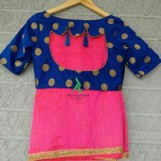 Georgette silk saree with banarasi ready wear blouse