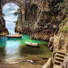 Amalfi coast, Fiordo di Furore. Italy