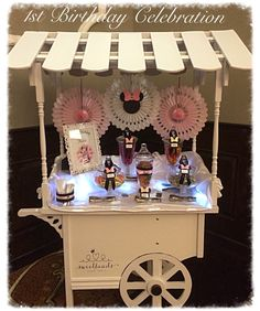 Minnie Mouse themed candy cart