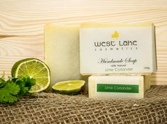 Our Lime Coriander soap is zingy and fresh with just a hint of earthiness. Natural Soaps, Coriander, Lime, Homemade, Fresh, Limes, Home Made, Diy Crafts, Do It Yourself