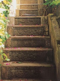 """The stair itself can be a work of art. --- """"Tropical Garden Design"""" by Made Wijaya"""