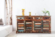Invicta Interior 19905 Sideboard Jakarta 180cm, aus Recyclingholz: Amazon.de: Küche & Haushalt Vintage Country, Vintage Decor, Jakarta, Summer House Interiors, Recycling, Hamptons House, Interior Decorating, Interior Design, Solid Wood Furniture